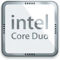 Apples Intel Core Duo button