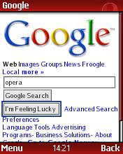 Opera Mini - Google