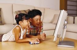 Kinderen met computer