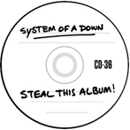 System Of A Down's 'Steal This Album'-label art