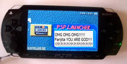 Gehackte PSP v2.50 met eerbetoon aan Fanjita