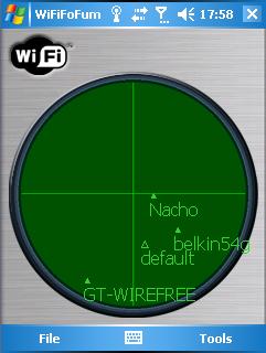 WiFiFoFum - radarversie van draadloze netwerken