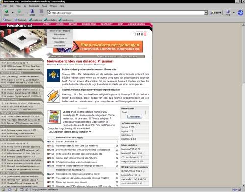 Mozilla SeaMonkey 1.0 final - Tweakers.net (klein)