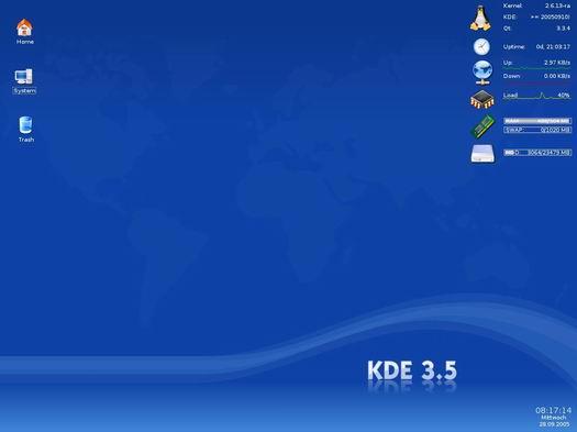 KDE 3.5 desktop (resized)