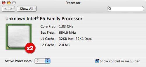 Apple iMac Core Duo-processorspecificaties