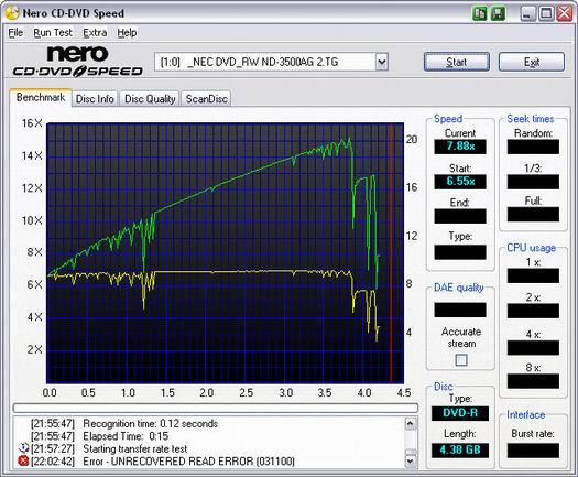 Nero CD-DVD Speed 4.11 screenshot (resized)