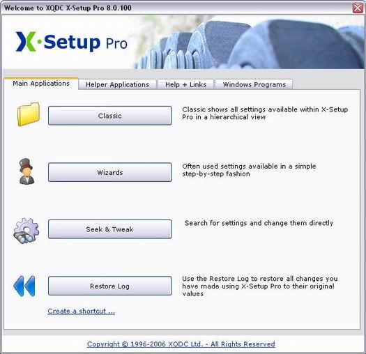 X-Setup Pro 8.0.100 screenshot (resized)