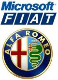 Microsoft & Fiat Alfa Romeo-logo