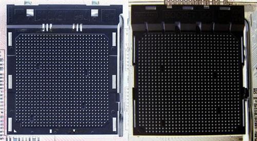 Socket 940 en Socket AM2 vergeleken: pinlayout