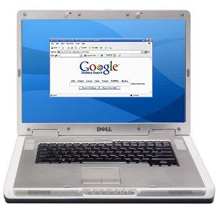 Dell-laptop met Google Desktop in de browser