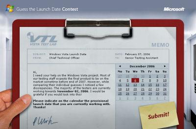 Guess Windows Vista launchdate