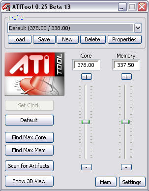 ATiTool 0.25 beta 13 screenshot