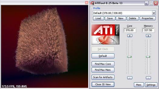 ATiTool 0.25 beta 13 screenshot met 3d view (resized)