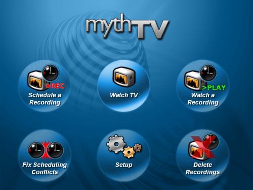 MythTV - beginscherm
