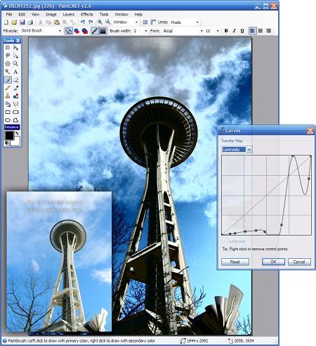 Paint.NET 2.6 - curves