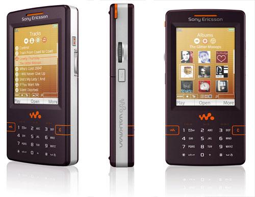 Sony Ericsson W950i Walkman - drie aanzichten