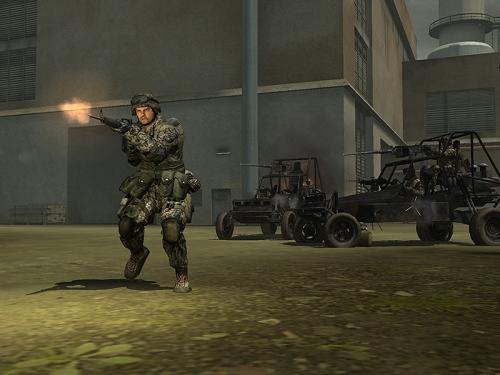Battlefield 2 - shooting ground troop
