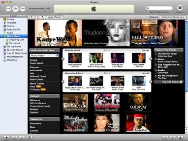 Apple iTunes screenie