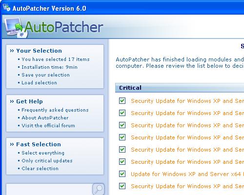 AutoPatcher x64 - installatiemenu (crop)