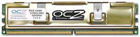 800MHz DDR2 OCZ PC2-6400 Gold geheugen