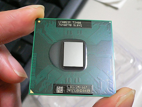 Intel Core Duo T2400 beetgepakt