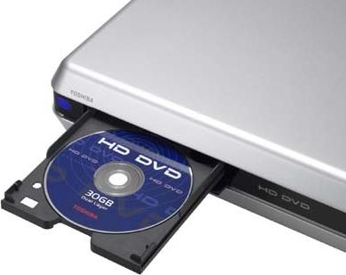 Toshiba-drive met HD DVD-schijfje