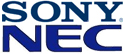 Sony/NEC-logo's
