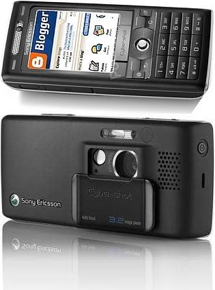Sony Ericsson Cybershot/Blogger-telefoon