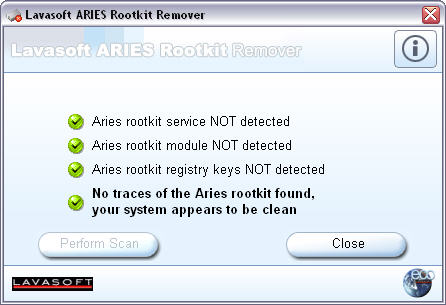 Aries Rootkit Remover screenshot
