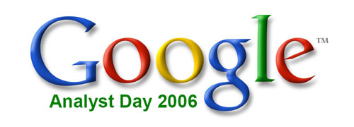 Google Analyst Day 2006-logo