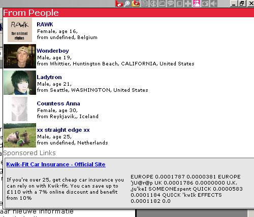 Pico - zoekresultaat MySpace