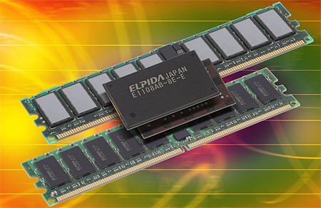 Elpidas 1 Gigabit DDR2 geheugen