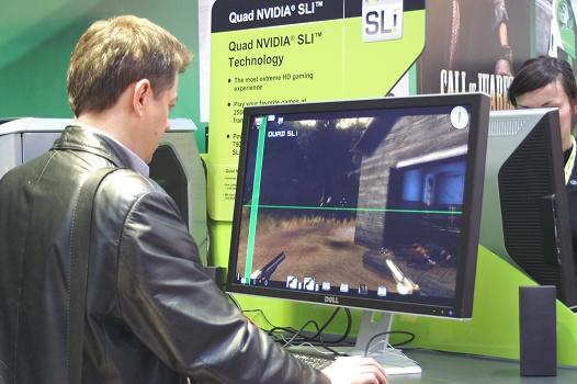 CeBIT 2006 - nVidia Quad SLI GeForce 7900 (Gun)