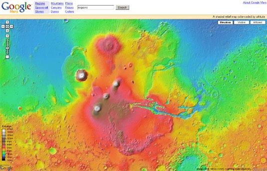 Google Mars-interface