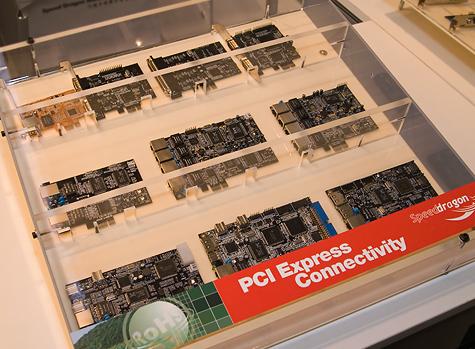 CeBIT 2006: Speed Dragon PCIe-kaartjes