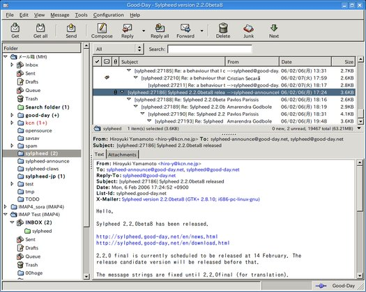 Sylpheed 2.2.0