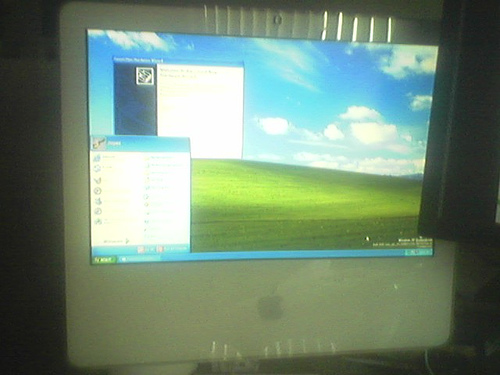 Windows XP op een iMac Core Duo