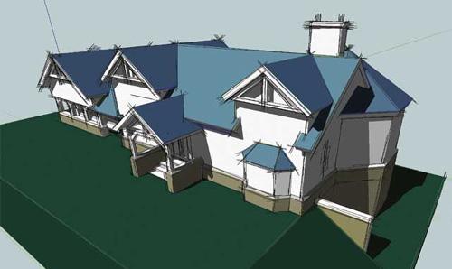 Ontwerp landhuisje met behulp van SketchUp