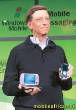Bill Gates met mobiele apparaten