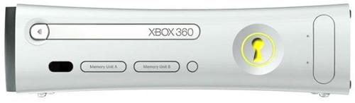 Xbox 360 met sleutelgat
