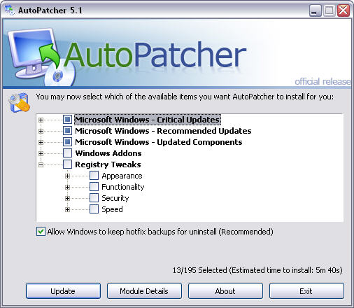 AutoPatcher XP 2006