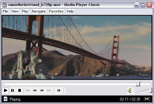 X-men 3 - the last stand trailer in Media Player Classic 6.4.9.0