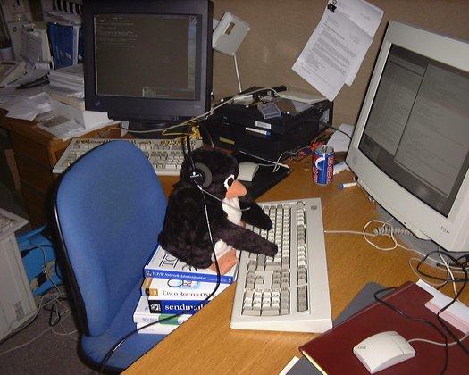 Tux hacking