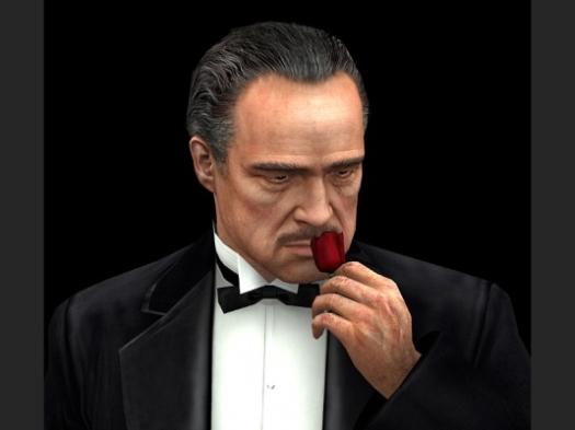 The Godfather The Game - Don Vito Corleone (Marlon Brando) als 3d-character