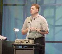 Scott Henson tijdens Windows CE Developers Conference 1999