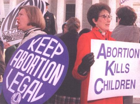 Voor- en tegenstanders van abortus