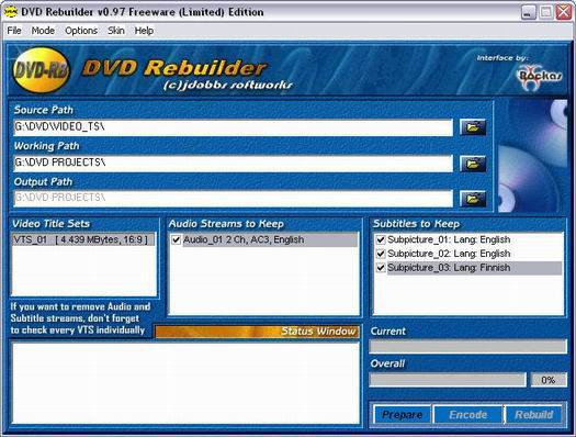DVD Rebuilder 0.97 screenshot (resized)