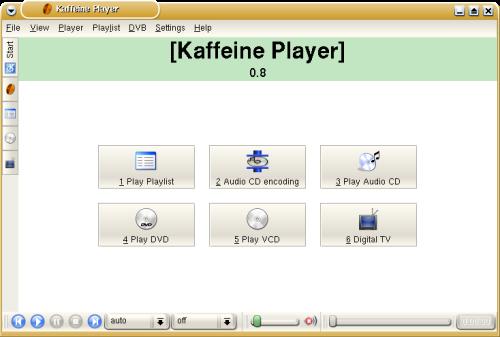 Kaffeine 0.8 screenshot