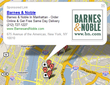 Google Local / Google Maps met mapvertenties
