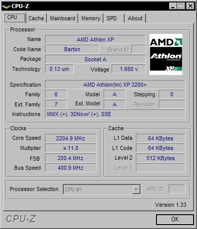CPU-Z 1.33